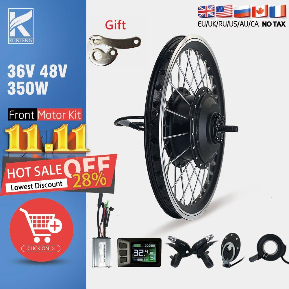 Electric Bike Conversion Kit 36V48V 350W Front Brushless Motor Wheel Hub Motor 16-29Inch 700C Ebike Great Bicycle Engine