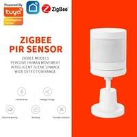 Tuya ZigBee PIR Motion Sensor Outdoor Human Body Alarm Presence Sensor With Mounting Base Support Smart Life Alexa Google Home