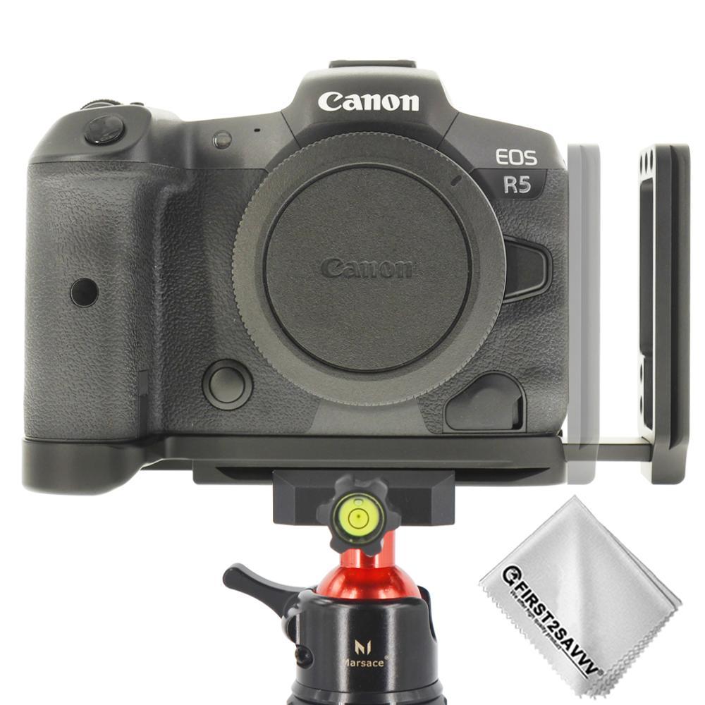 Soporte de placa L de liberación rápida para cámara Canon EOS R5 EOS R6