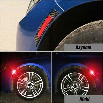 2x Car Wheel Eyebrow Edge Reflective Warning Sticker For Nissan Qashqai Almera Juke Tiida X-Trail Note J11 Exterior Accessories