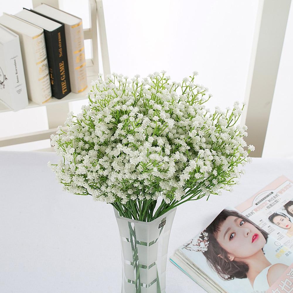 50 см Искусственный цветок Babysbreath в деревенском стиле, свадебный букет, Цветочный декор для домашней вечеринки, рождественский подарок, Гипсофила 21