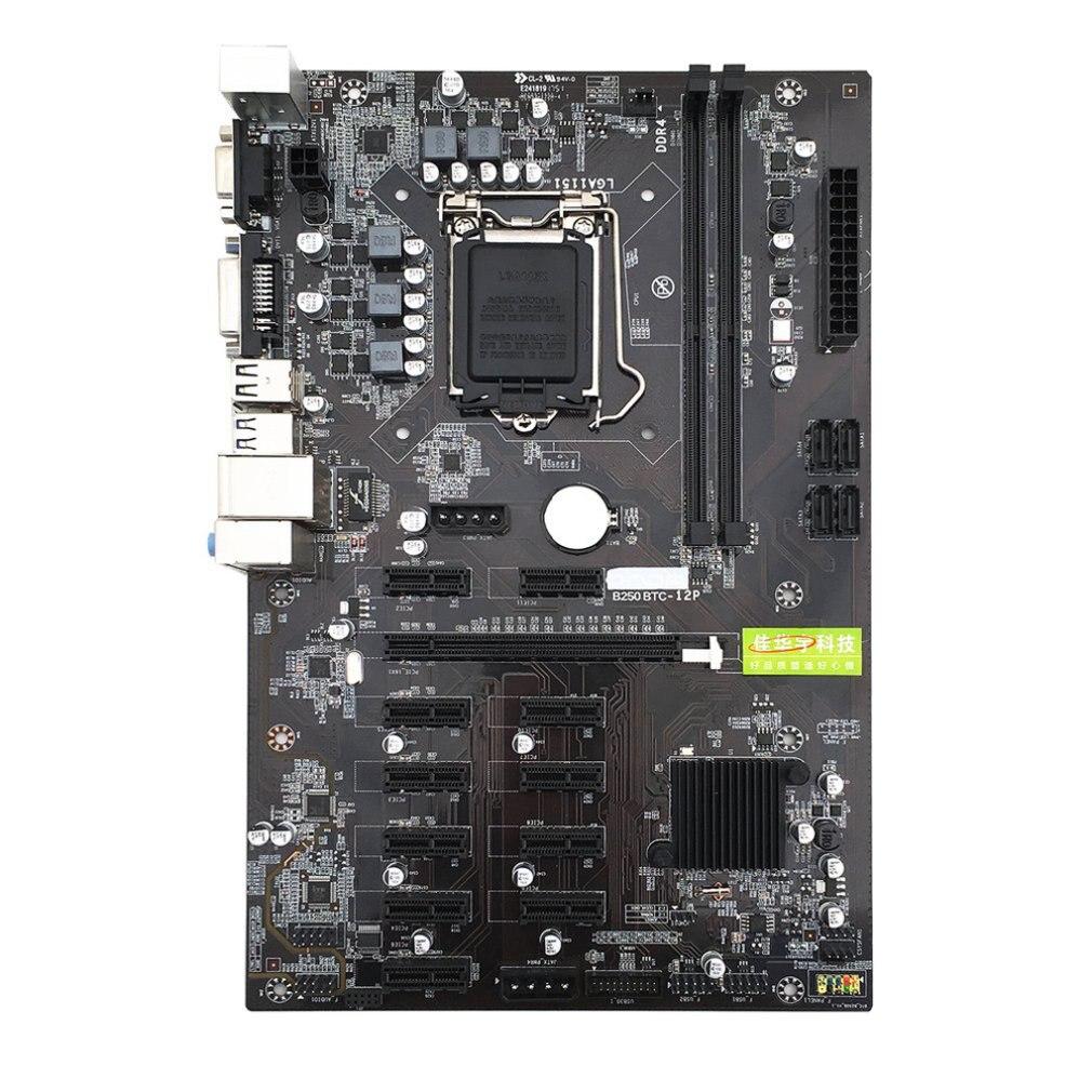 B250C لوحة أم للكمبيوتر مع 12 فتحة الرسومات USB3.0 إلى PCI-E واجهة دقيق صنعة اللوحة دروبشيبينغ