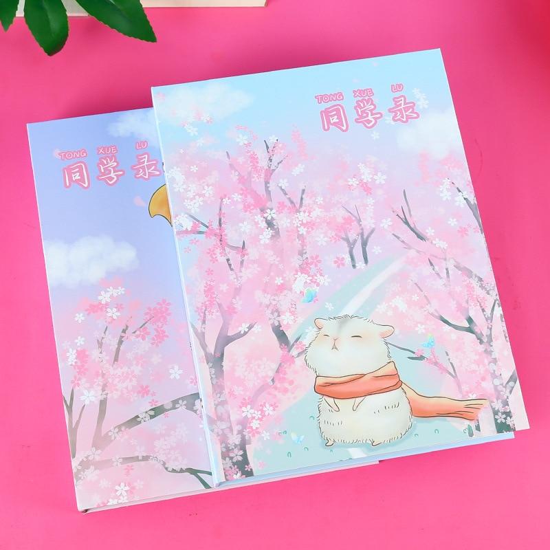 Coreia do sul papel com 16k flor hamster ex-alunos livro jovem graduação álbum criativo folheto
