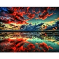 Hongxia Sur La Mer Paysages PEINTURE A LA MAIN Par Numeros Photo Coloration Zero Base Peinture A Lhuile Peinte A La Main Unique Cadeau Decor A La Maison