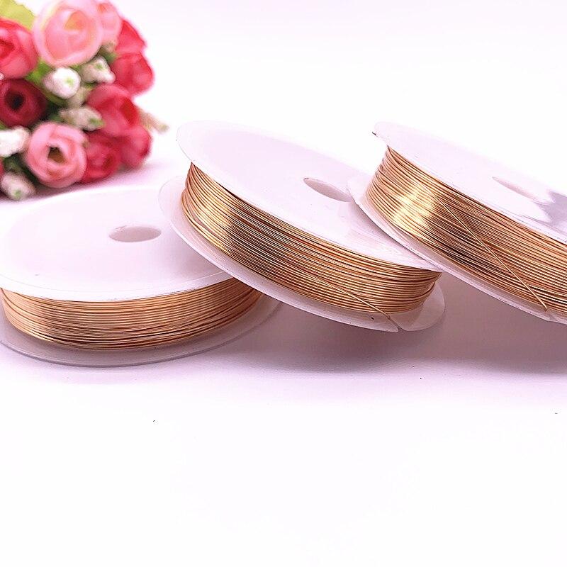 Proteção de cor para atacado fio de cobre 0.3/0.4/0.5/0.6/0.8/1.0mm cor de cobre bobina de fio de metal para joias