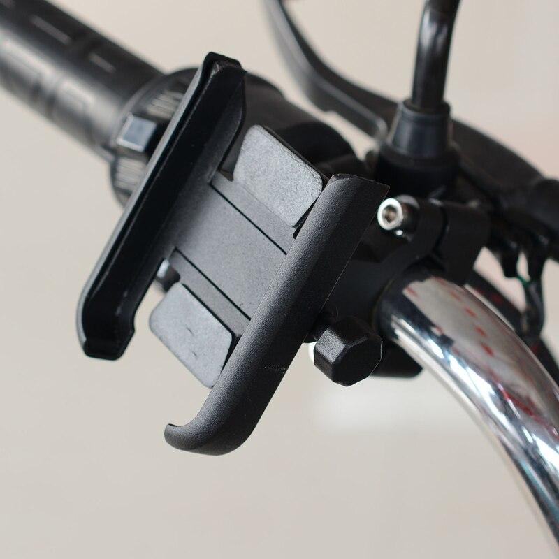 Soporte ajustable de aluminio para teléfono de 4-6,5 pulgadas para bicicleta Electrombile motocicleta ATV UTV