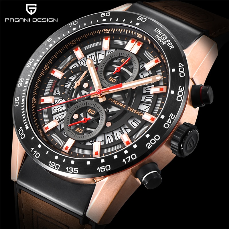 PAGANI تصميم العلامة التجارية ساعة الموضة رجل فاخر مقاوم للماء التقويم عادية كوارتز ساعة اليد كرونوغراف ساعة Relogio Masculino