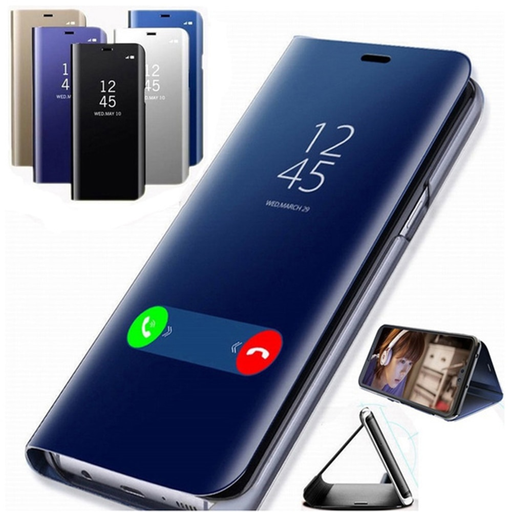 Mirror Flip Case For Xiaomi Redmi Note 9s 7 5 8 9 Pro max 8T 10 7A 8A Mi 10 9t A3 Lite Funda Cover on Redmi Note 9s 7 8 Pro case