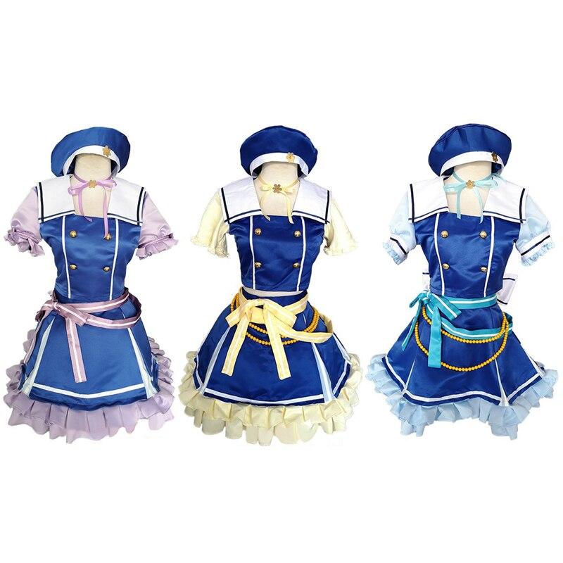 Anime bang sonho shirasapi chisato hikawa hina wakamia eva cosplay custume cos jk uniformes escolares meninas conjunto