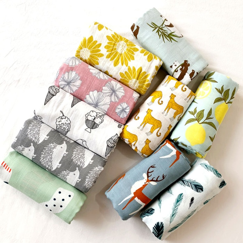 58x58cm Muslin Organic cotton Baby Towels Scarf Swaddle bath Towel Newborns Handkerchief Bathing Feeding Face Wipe Washcloth