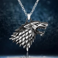 burst wolf head right game pendant necklace mens necklace new fashion metal animal pendant accessories party jewelry