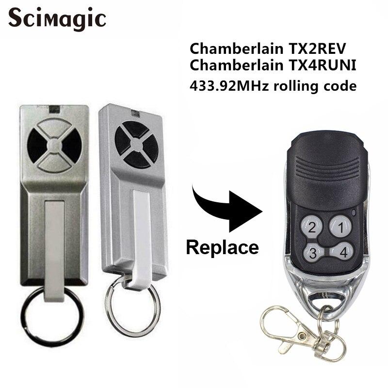 FOR Chamberlain TX2REV / Chamberlain TX4RUNI compatible remote control garage door opener command transmitter