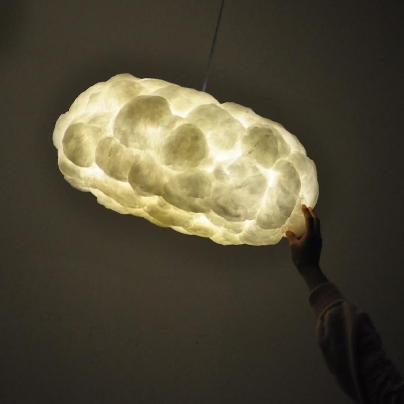 Flottant nuage pendentif lumières en soie lampe nuages sombres lampe à main personnalité décorer suspension pour hôtel hall Restaurant Bar