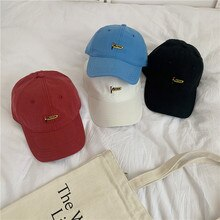 Hat Female American Artistic Retro Embroidery Baseball Cap Street Hipster Soft Top Couple Casual All