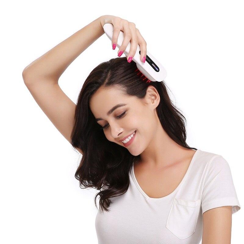 3 في 1 مشط ليزر لنمو الشعر مكافحة تساقط الشعر تجديد الجلد رئيس تدليك ليزر ذو مستوى منخفض lllt العلاج الطبيعي