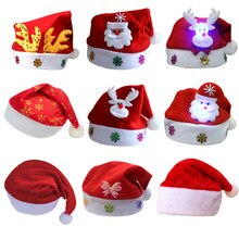 Soft Plush Christmas Hat Party Baby Adult High-end Hat Santa Claus Hat Red Decoration New Year Child