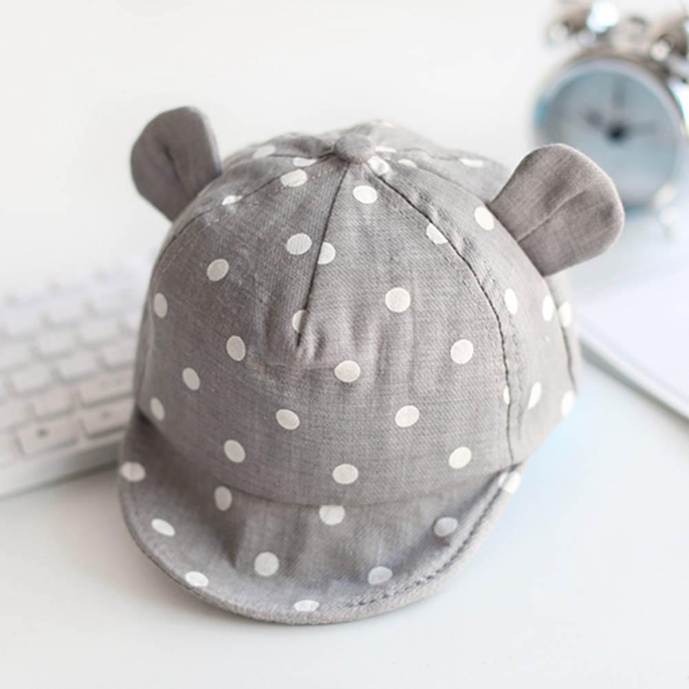 Spring and Autumn Children Sun Hat Toddler Hat Cute Polka Dot Baby Hat Girl Boy Sun Hat with Ears Newborn Baseball Cap