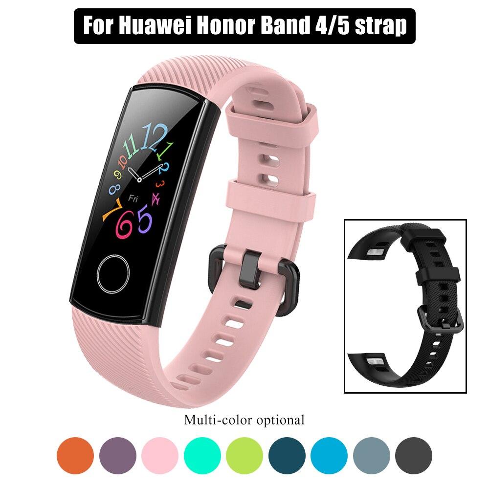 Ремешок спортивный для смарт-часов Huawei Honor Band 4 5, сменный силиконовый браслет для мужчин и женщин, аксессуары