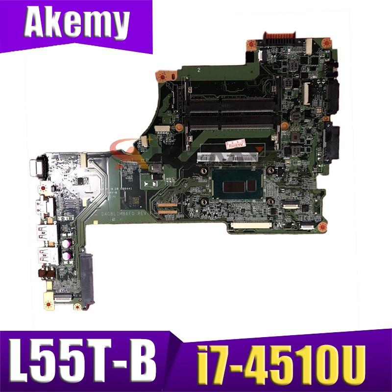 AKEMY اللوحة المحمول لتوشيبا L55T-B L55-B L55T الرئيسي مجلس A000296880 DA0BLIMB6F0 i7-4510U وحدة المعالجة المركزية