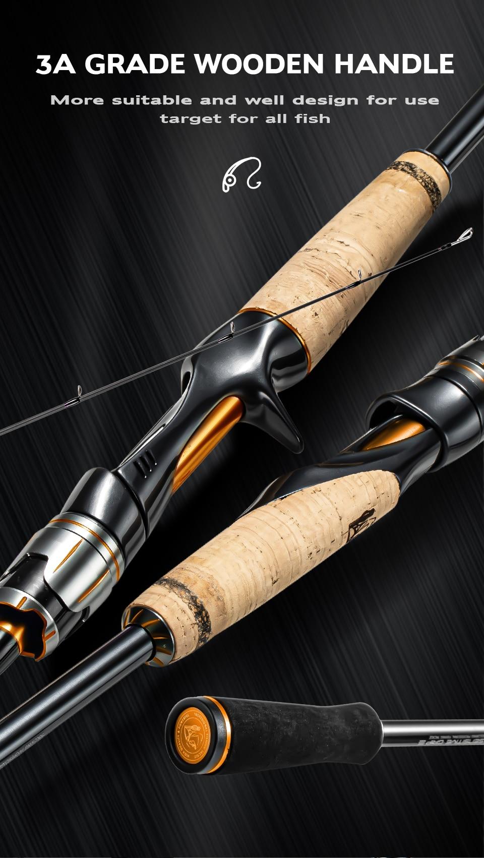 Soloking Fishing Rod and Reel Kit 2.4M High Carbon Lure Casting Rod GKA200T Baitcasting Reel Red Blue Orange Purple Fishing Kit enlarge