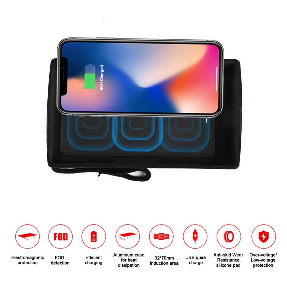 Chargeur de téléphone sans fil   Pour Audi A3 2016 2017 2018, iPhone intelligent Max Huawei, Samsung chargeur rapide