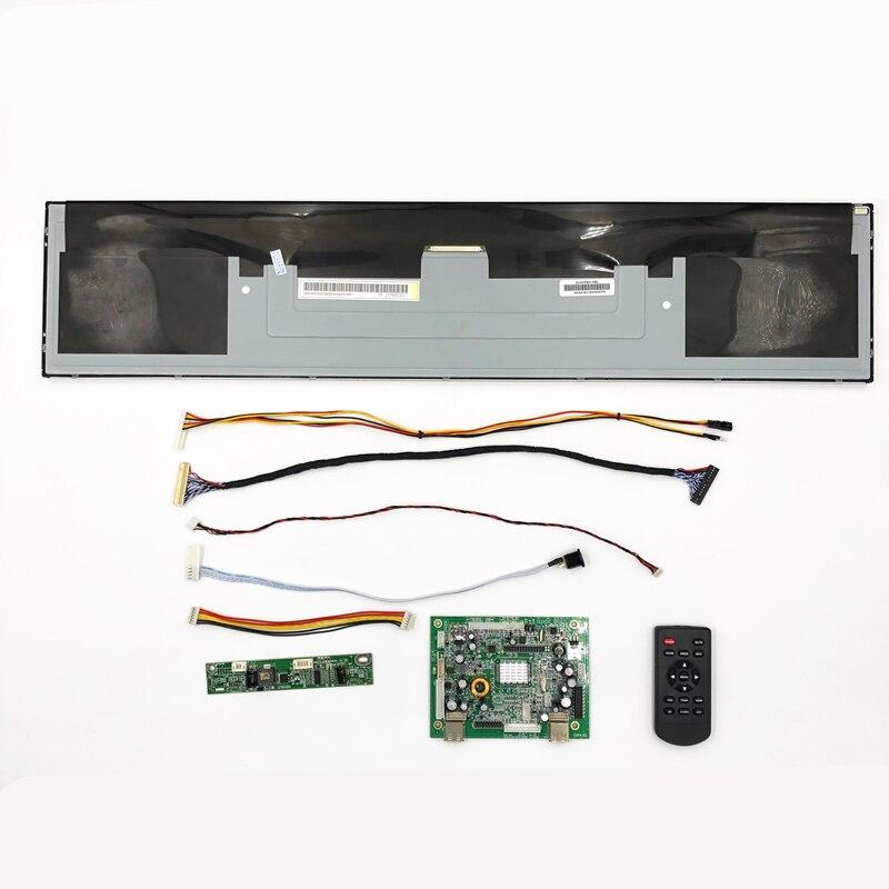 Loja prateleira tela de exibição boe 24 polegadas DV240FBM-NB0 1920*360 hd suporte de parede wifi, usb, hdmi/vga portas