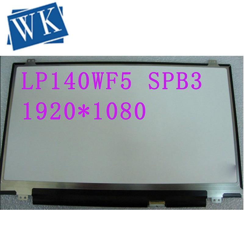 14,0 قطع غيار ، لوحة IPS ، LP140WF5(SP)(B3) LP140WF5-SPB3/LP140WF5-SPB2 FRU 00NY409 para ThinkPad T460 T460S FHD
