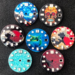 NH35 dial 28.5mm dial watch dial fit Seiko nh35 movement for Seiko SKX007 SKX009 Crown at 3.8 o'clock Watch case Men's watches