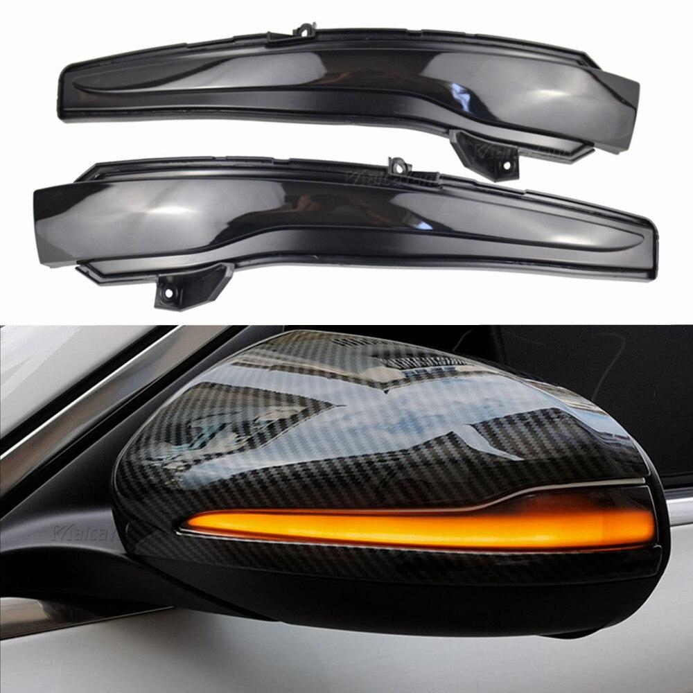 2 luces LED de espejo de señal intermitente dinámica para Mercedes Benz W205 W222 2014 W238 W213 2016 LHD C E S Class
