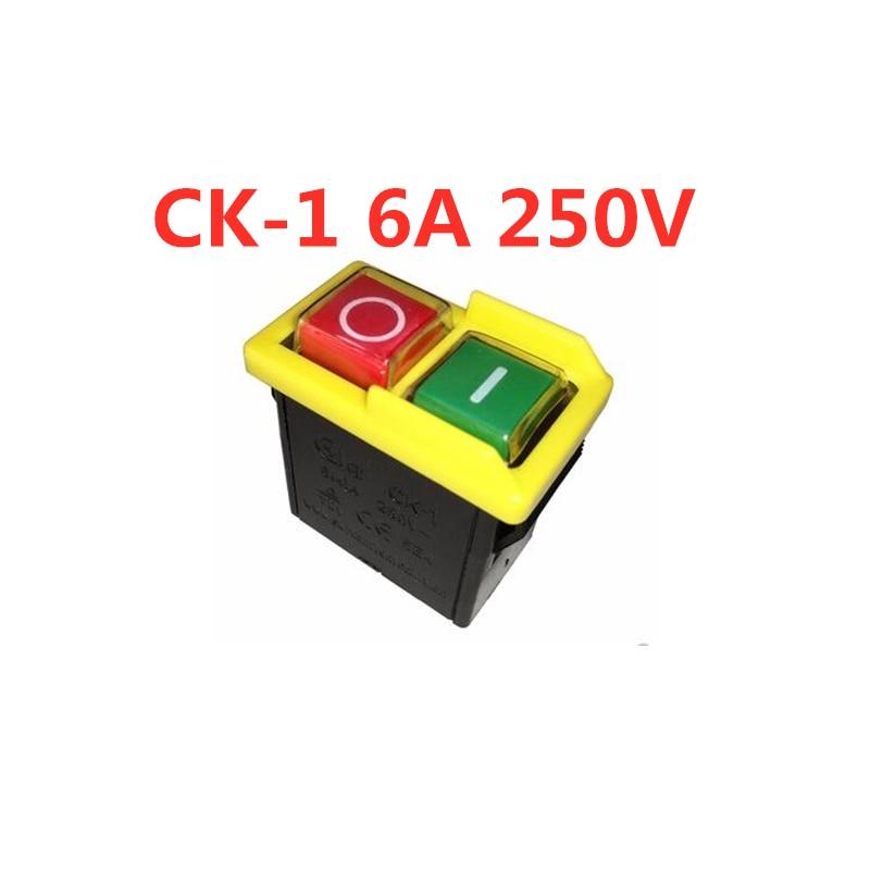 CK-1 6A 250VAC interruptor electromagnético botón interruptor molinillo inicio interruptor CK1