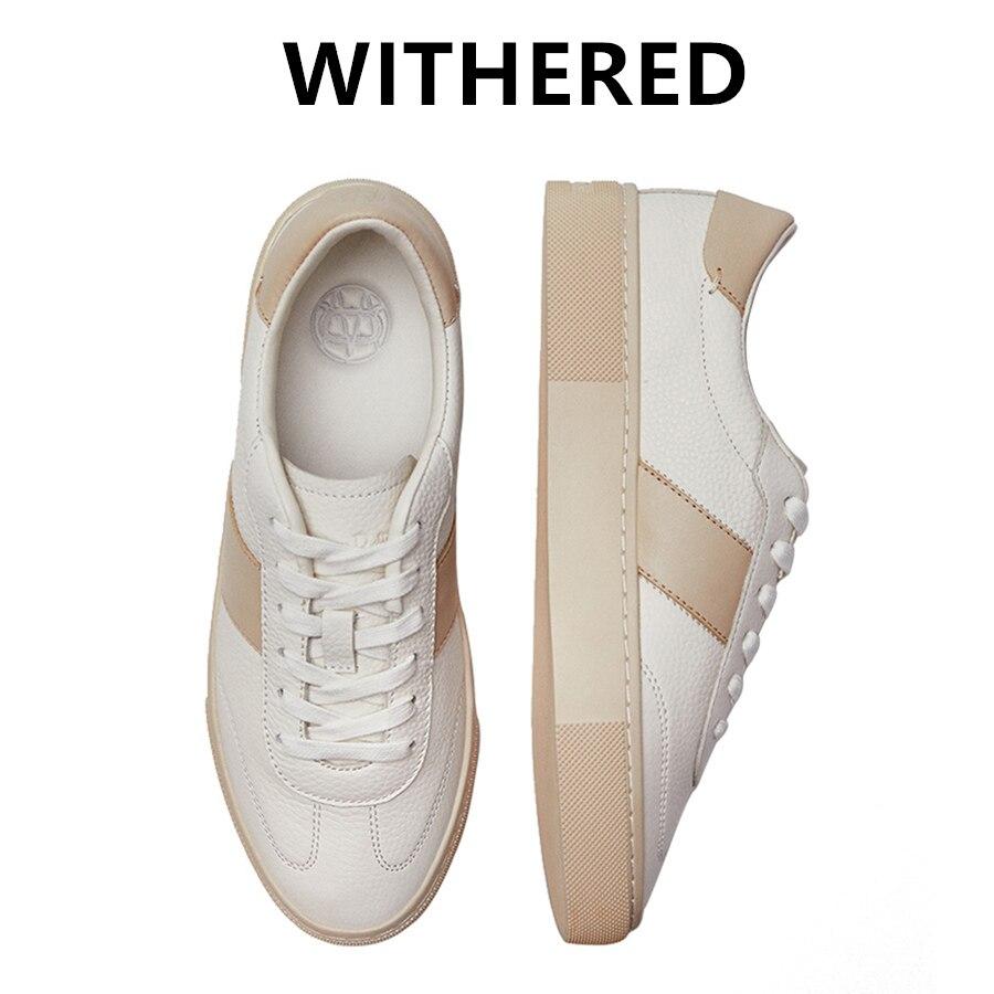 Withered 2021 SS انجلترا نمط خليط أحذية رياضية النساء جلد طبيعي أحذية مفلكنة أحذية النساء أحذية تدريب غير رسمية امرأة