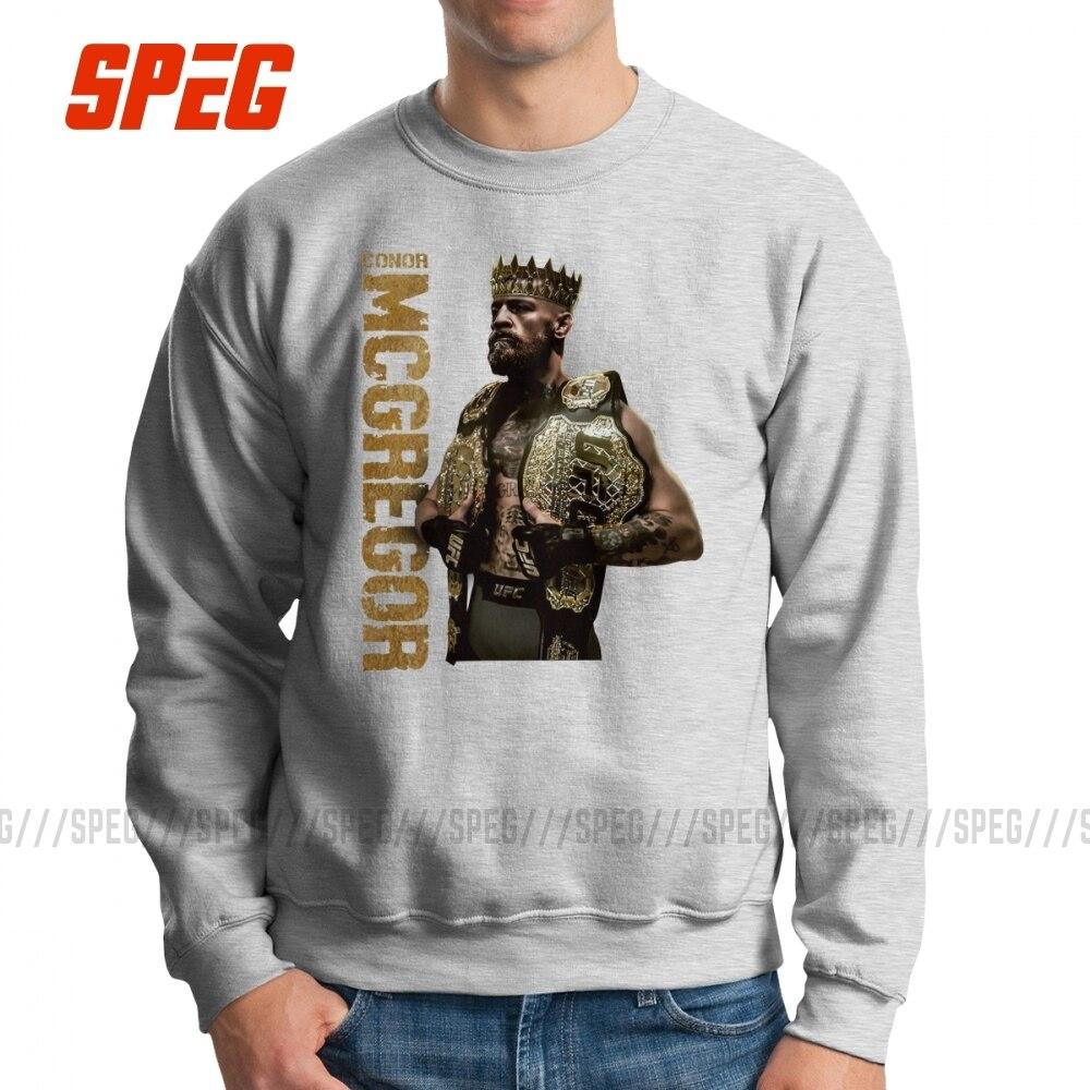 El rey Conor McGregor Notorious sudaderas hombres novedad 100% algodón jerséis de cuello redondo gráfico sudaderas Tops