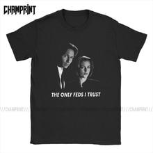 Camiseta Vintage de algodón de manga corta 6XL para hombre, el único FBL I Trust X Files, camisetas de manga corta