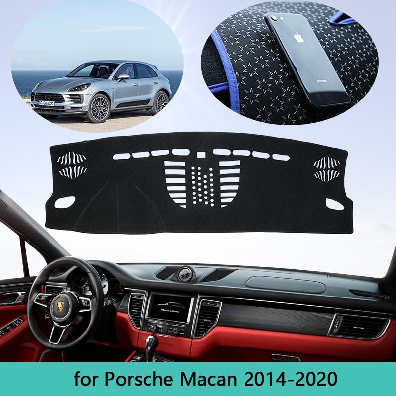 Car Dashboard Carpet Cover For Porsche Macan 2014~2020 Dash Mat Cape Anti-dirty Sun Shade Dashmat Automotive interior 2015 2016