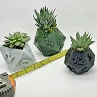 dice vases decoration resin flowerpot home decor accessories storage container floral arrangement for board gamer hk3