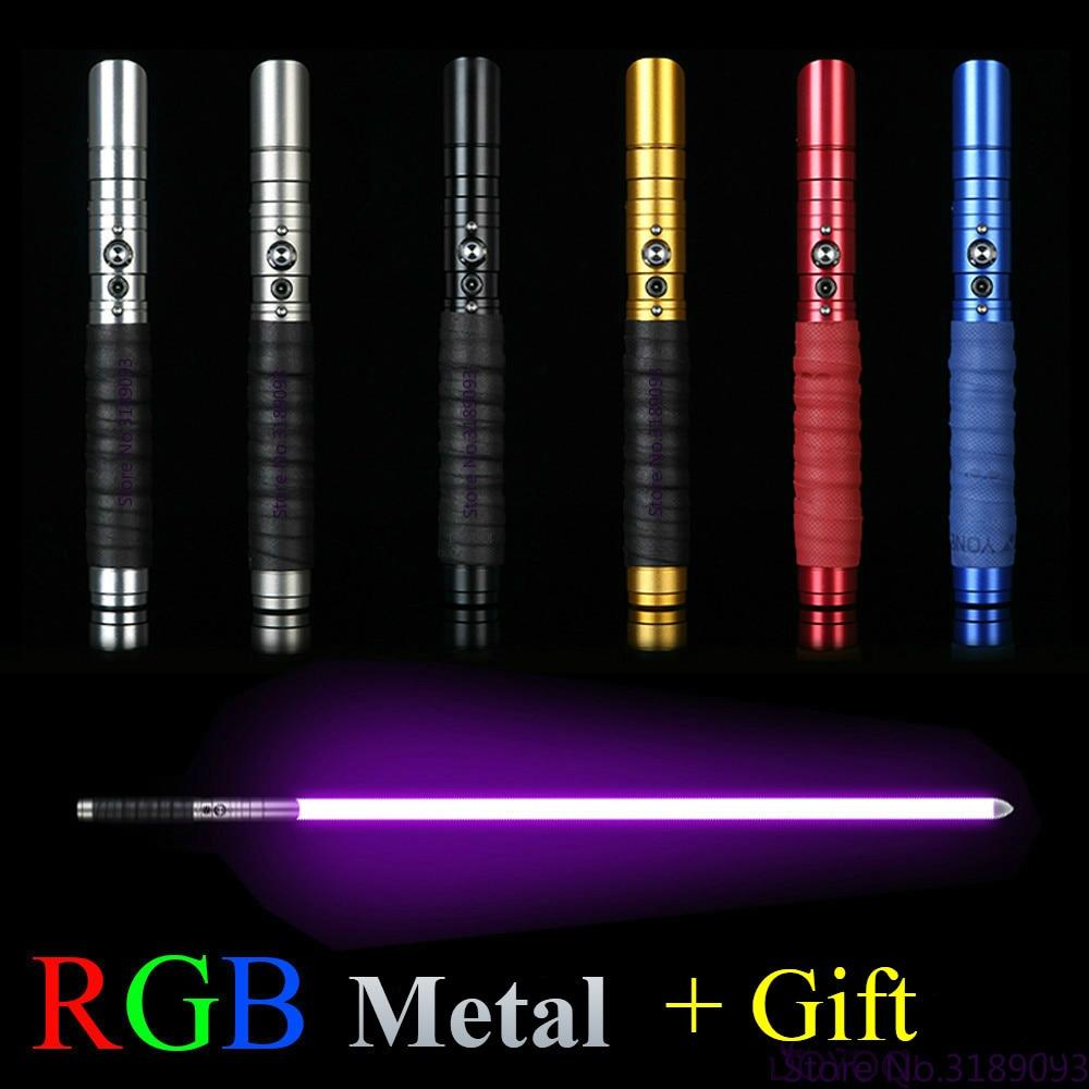 Sable de luz 12, cambio de colores, recargable, espada de Metal, mango FX, Heavy Dueling, sable de luz FOC Lock up Sith Luke Lightsaber