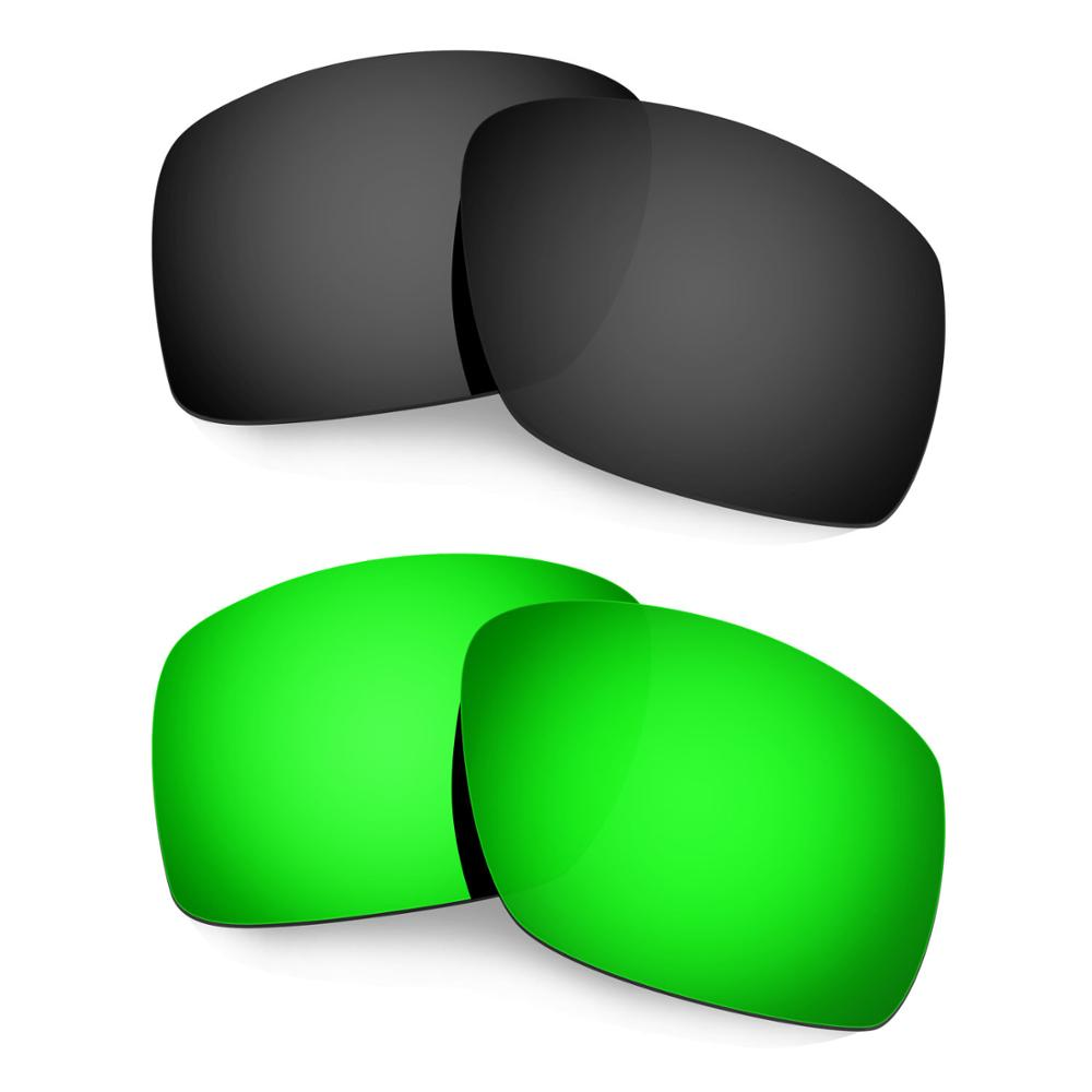 HKUCO ل كبيرة تاكو النظارات الشمسية استبدال العدسات المستقطبة 2 أزواج-الأسود والأخضر