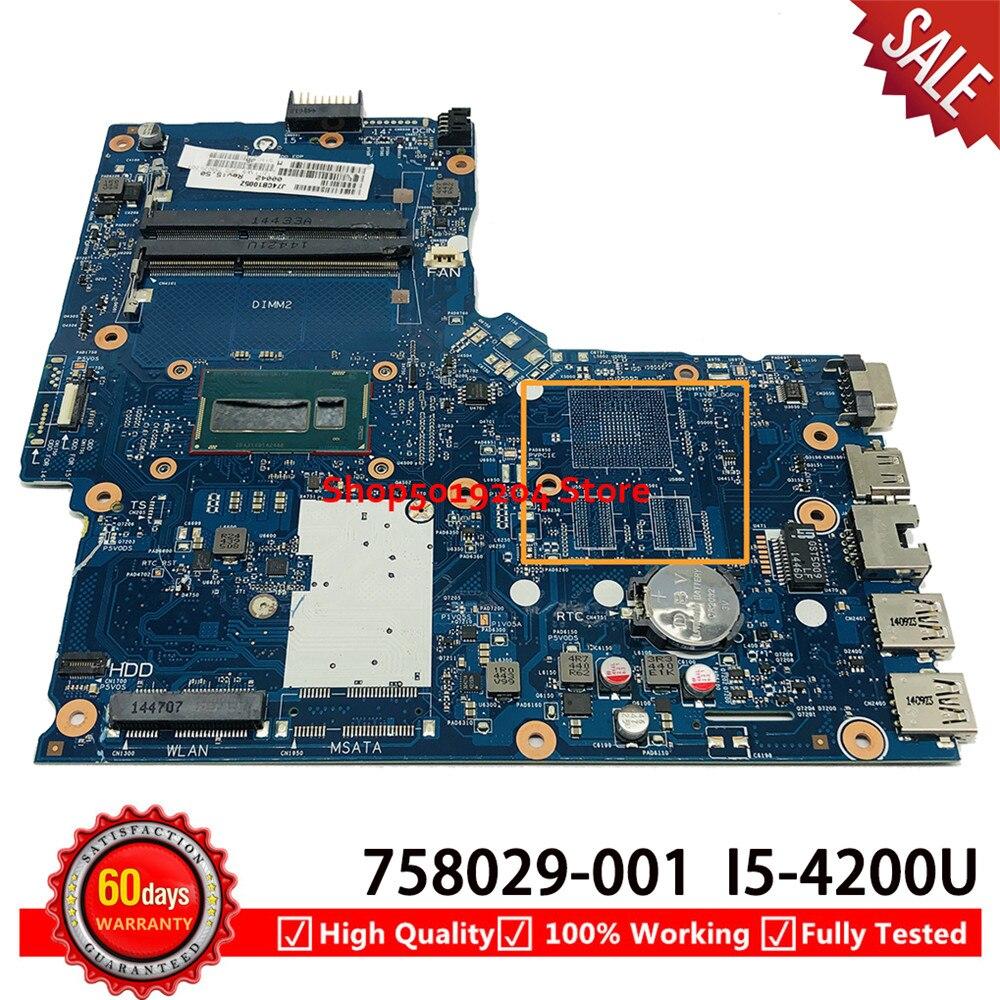 ل HP 350 G1 G2 350-G1 اللوحة المحمول 6050A2608301-MB-A05 SR170 i5-4200U 758029-001 758029-501 758029-601 اللوحة الأم