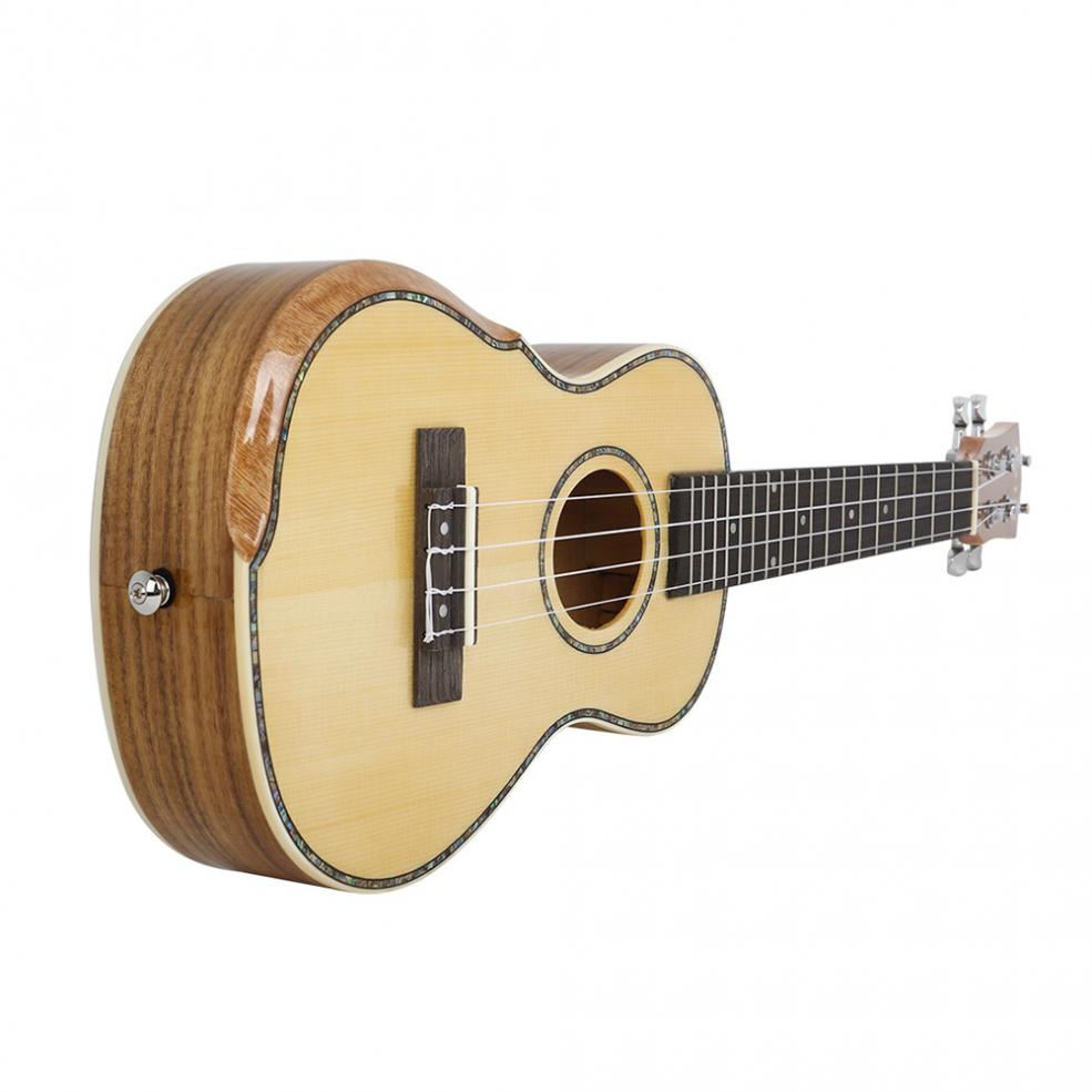 23 Inch Veneer Spruce Wood Ukulele Hawaiian Small Guitar Bevel Design with Gig Bag Capo Strings Cleaning Cloth Accessories enlarge