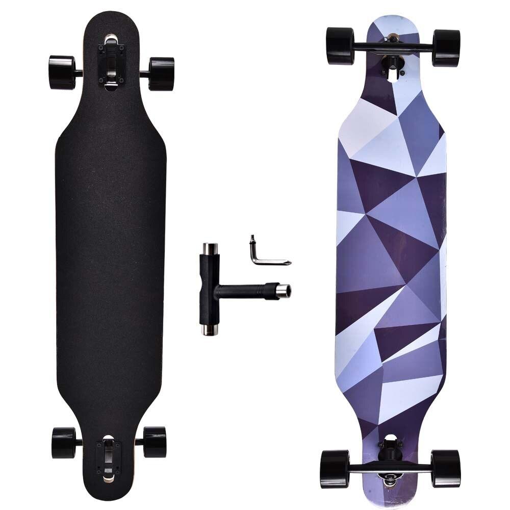 Longboard Maple Skateboard Professional Teenagers Street Brushing Long Board Skateboard Adults Rullebrett Entertainment BY50HB