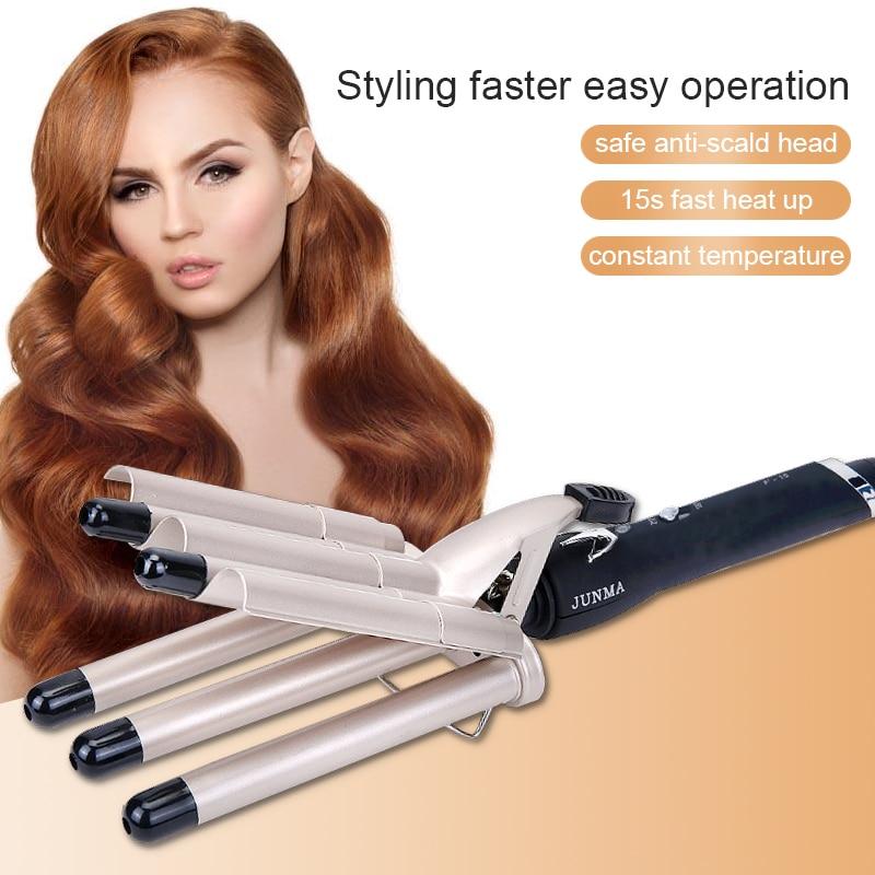modelador de cabelo curling ferro cinco barris rolos de cabelo ondulacao ceramica