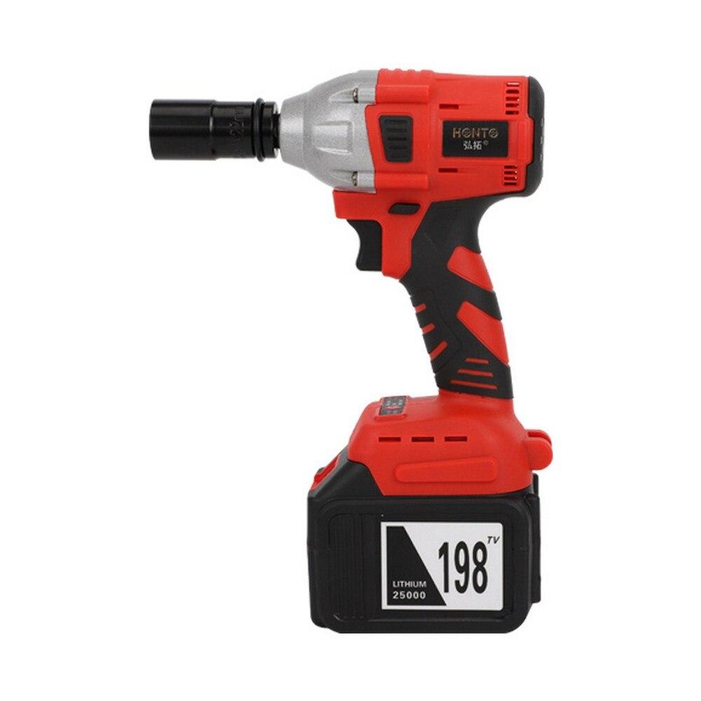 Clé à chocs sans brosse outil électrique 198TV Rechargeable sans fil clé motorisée outils de poche avec batterie et chargeur