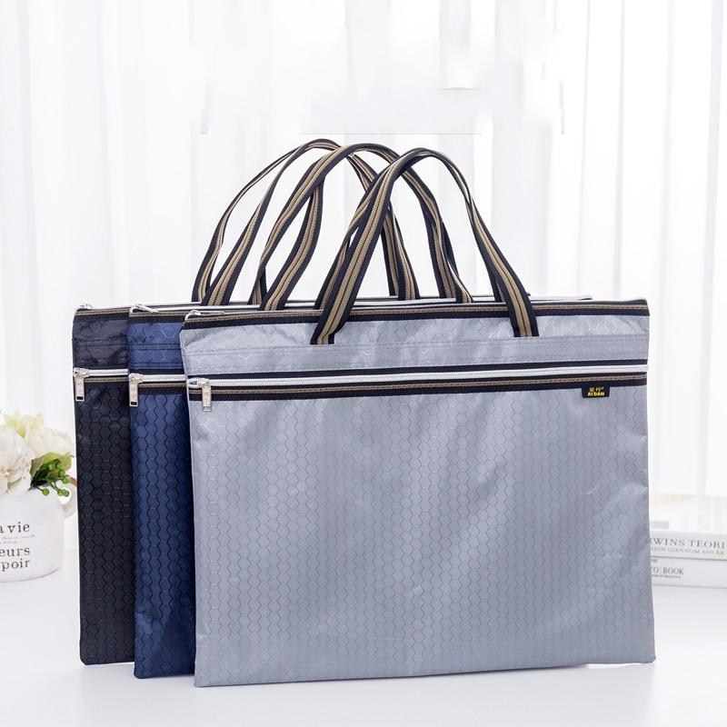 A3 Briefcase Storage Bag 8K Drawing Board Art Sketch Bag Oxford Cloth Large Capacity Zipper Waterproof Student Office Handbag