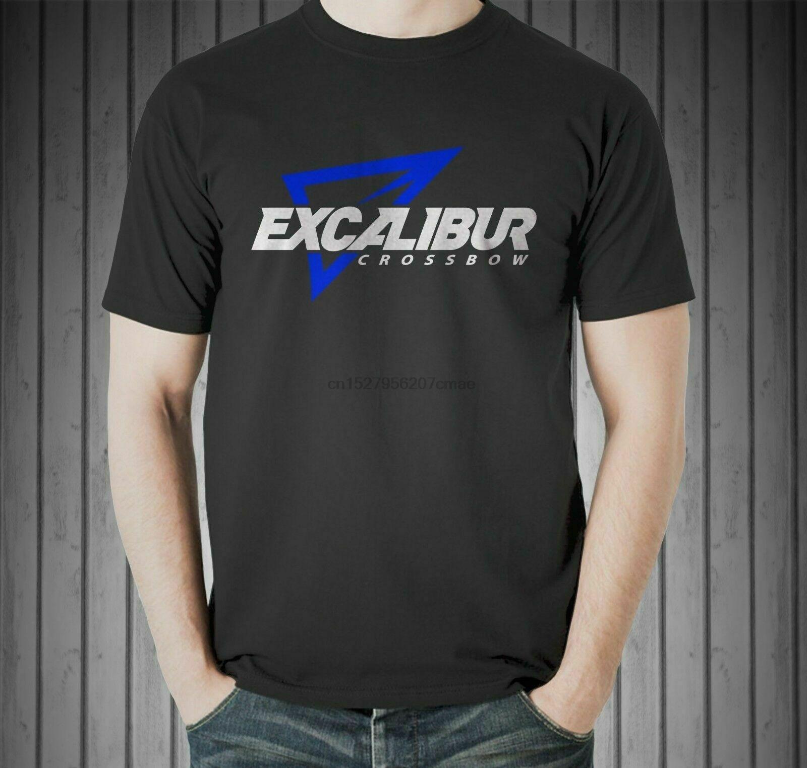 Excalibur logotipo besta caça veados composto arco seta tamanho eua camiseta en (1)