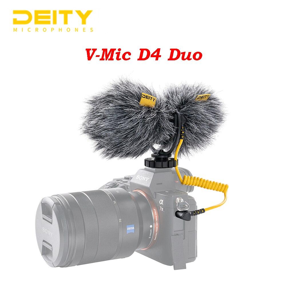 Deity V-Mic D4 Duo المزدوج رئيس كبسولة ميكروفون مزدوج القلب Mic TRS 3.5 مللي متر ل Vlog فيديو استوديو DSLR كاميرا هاتف ذكي