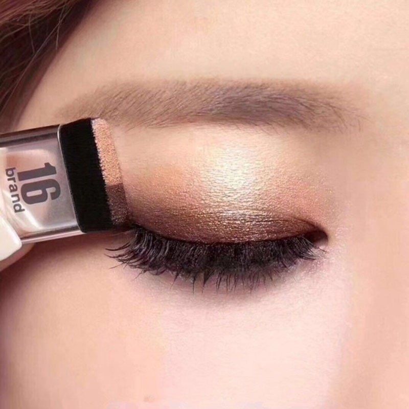 Natural de dos colores de sombra de ojos paleta de colores fácil de usar perezoso de sombra de ojos-Flor impermeable brillo sombra de ojos