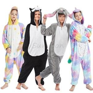 Children Pajamas Boys Unicorn Pijamas Set Animal Cartoon Wolf Sleepwear Kids Pajamas For Girls Baby Costume Child Pyjama 4-16y