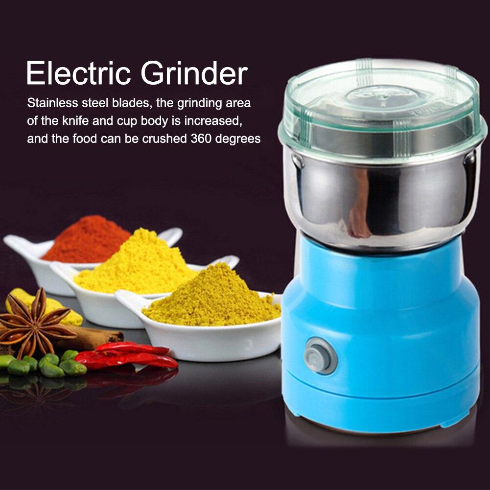 Molinillo de café multifuncional, hierbas eléctricas inoxidables, especias, nueces, granos de café, molinillo de 110-220v, máquina de romper 150W