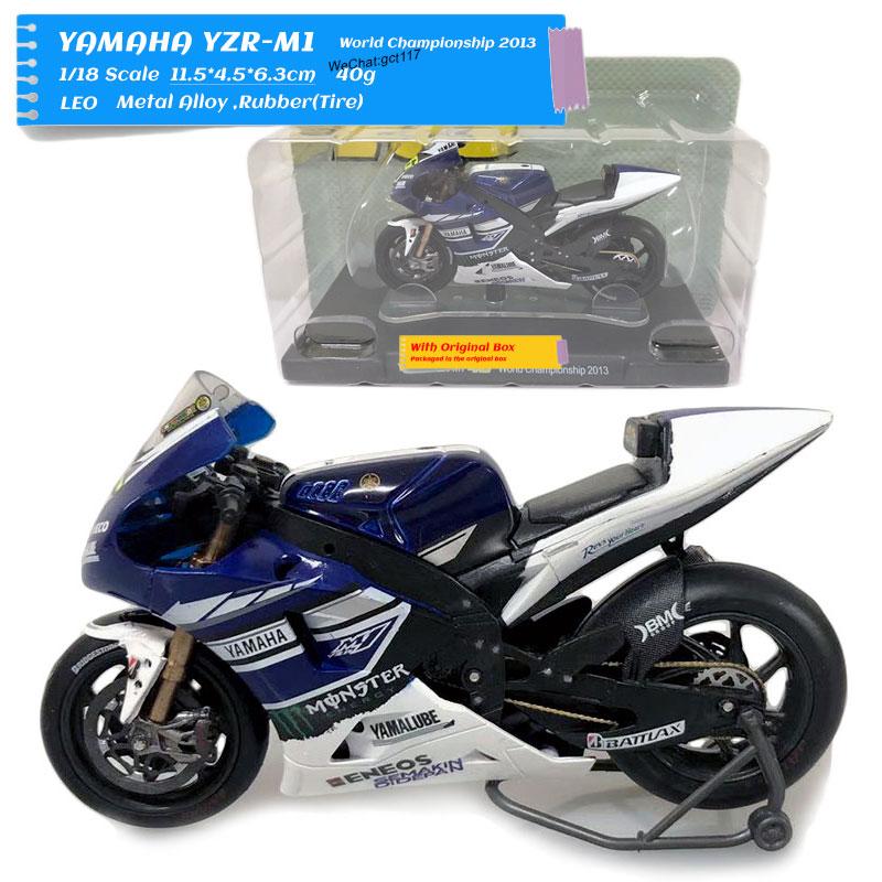 LEO 1/18 Scale Racing Motorcycle Yamaha World Champion 2013, литая металлическая модель мотоцикла, игрушка для подарка, коллекция