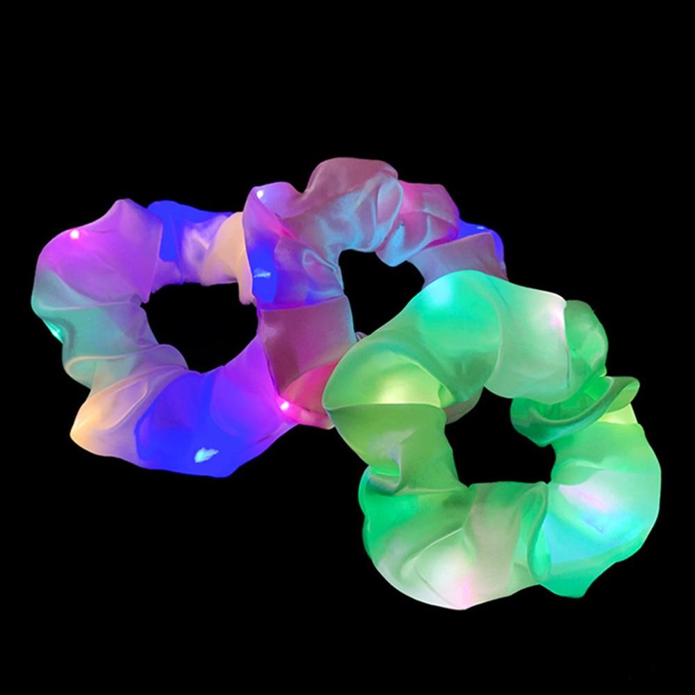 Qızlar LED işıq saçalı saç bandı, quyruq tutucu, elastik saç - Geyim aksesuarları - Fotoqrafiya 2